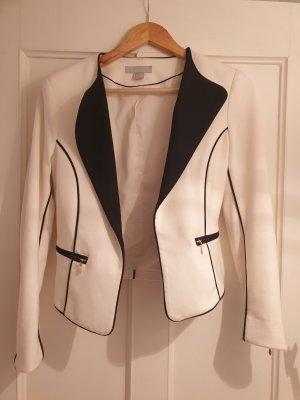 H&M Jersey blazer wit-zwart
