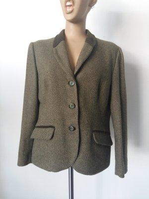 Tweed Blazer green grey wool