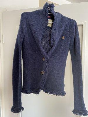 Bogner Fire + Ice Knitted Blazer dark blue