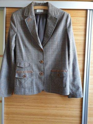 Frank Walder Blazer in lana marrone chiaro-marrone