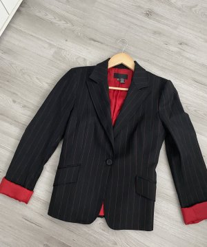Zara Woman Tuxedo Blazer black-red