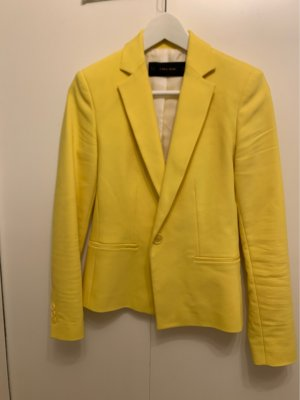 Zara Blazer de esmoquin amarillo neón-amarillo