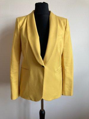 Zara Blazer en laine jaune primevère coton