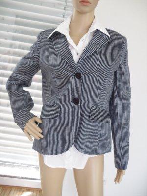 More & More Blazer stile Boyfriend bianco-blu