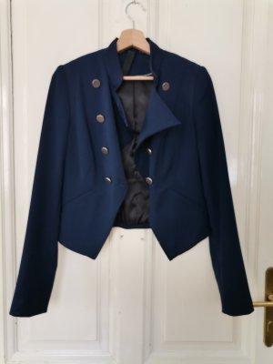 Gestuz Blazer court bleu foncé laine