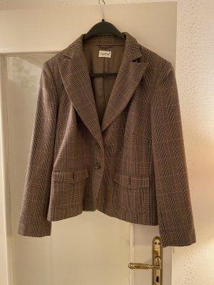 Together Blazer in lana marrone-grigio-grigio