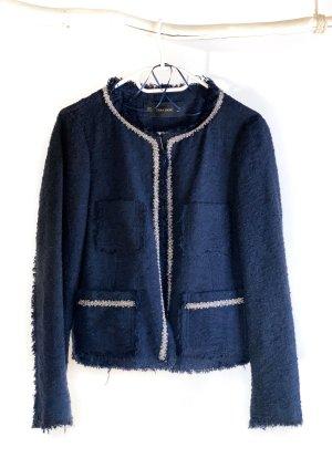 Zara Basic Tweed Blazer multicolored