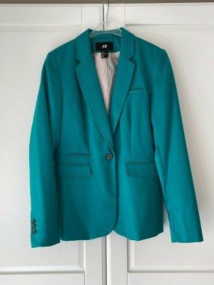 Blazer Gr. 36 H&M petrol grün blau Gr. S