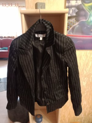 Amisu Blazer de tela de sudadera negro-color plata