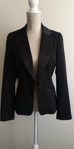 Jersey blazer zwart
