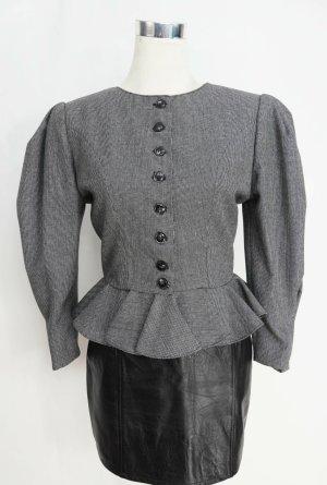 True Vintage Blazer de lana blanco-negro Lana