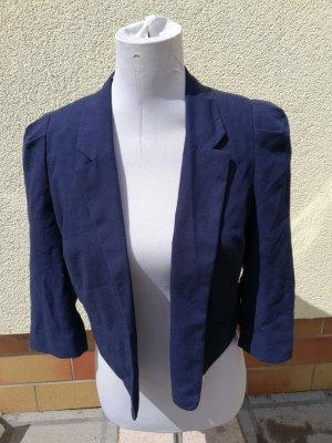 Blazer de tela de sudadera azul