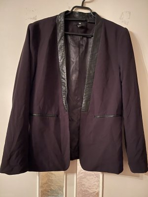 H&M Blazer in pelle nero