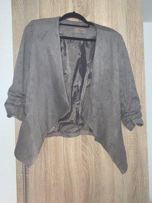 Leren blazer grijs