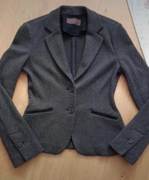 s.Oliver Black Label Tweed blazer zwart-grijs