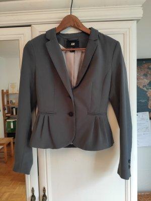 H&M Klassischer Blazer grey