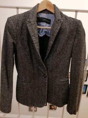 Zara Basic Wool Blazer dark grey