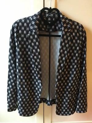 H&M Long Blazer black-white polyester