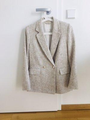 H&M Klassischer Blazer beige-natural white