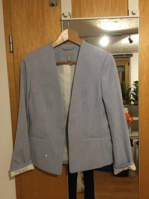 H&M Blazer corto azul celeste