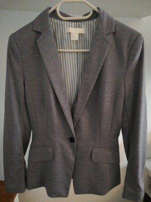 H&M Blazer in jersey grigio chiaro