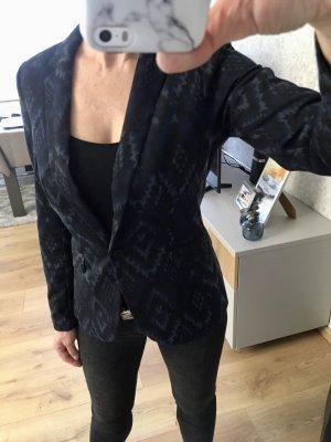 Blazer H&M schwarz mit Muster Gr S/36