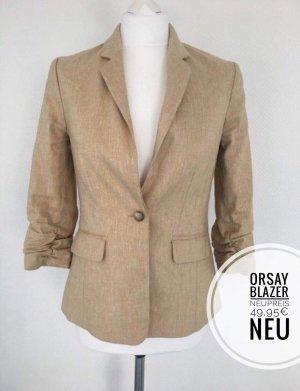 Blazer Hacker Jacke beige ungetragen 36 büro Kleidung Blazer blogger vintage boho Oberteil