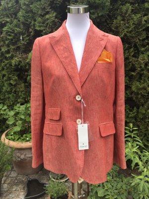 .Onorati Klassischer Blazer dark orange linen