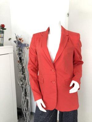 Denim Blazer bright red
