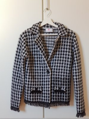 Herzensangelegenheit Tweed Blazer white-black
