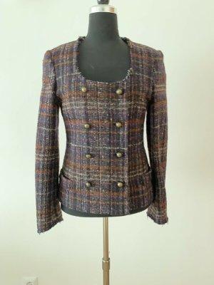 Jucca Blazer en tweed violet foncé laine