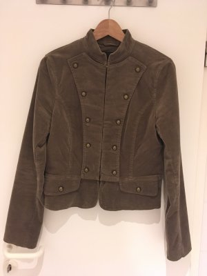 H&M Military Jacket taupe-grey brown cotton