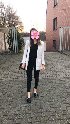 Blazer in Beige/Weiß