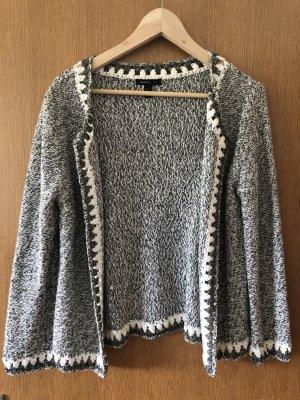 Mango Knitted Blazer multicolored cotton