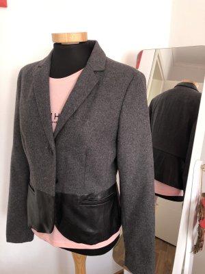 Blazer in grau/ schwarz von OPUS ,36/S/Leder Optik