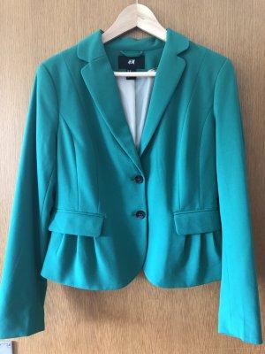 H&M Blazer sweat bleu cadet polyester