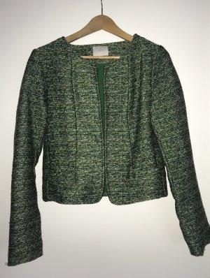 Blazer in grünem Tweed