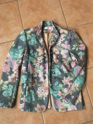 Pink Cherry Leather Blazer multicolored