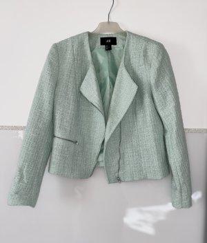 H&M Blazer corto verde-grigio-menta