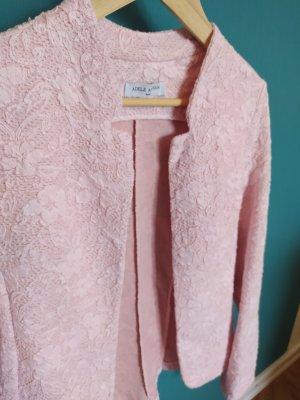 Blazer in rosa mit Blumenmuster