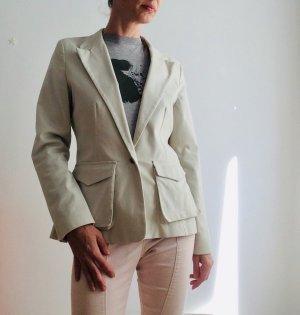 Kookai Blazer boyfriend beige clair-brun foncé