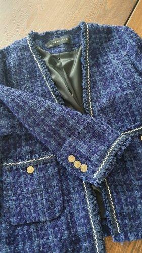 Zara Blazer in tweed blu