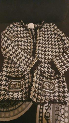 Zara Knitted Blazer white-black