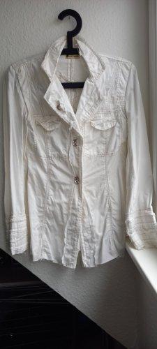 Marynarka koszulowa biały-w kolorze białej wełny