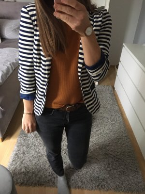 Blazer Jacke blau weiß gestreift pink gold Vila 34