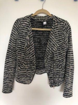 Devided von H&M Gebreide blazer zwart-wit