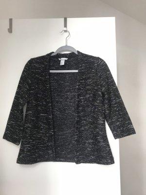 H&M Blazer in maglia bianco-nero