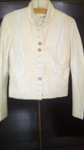 Apart Fashion Blazer in pelle bianco sporco Pelle