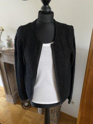 Tweed Blazer black-silver-colored