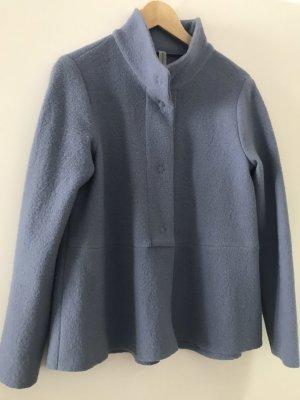 il vento & la seta Blazer in maglia blu fiordaliso